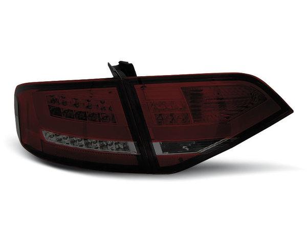 Тунинг LED стопове за Audi A4 B8 2008-2011 седан, версия без фабрични led стопове - черни