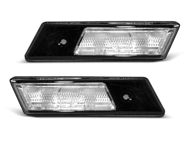 Тунинг мигачи в калник бели с черна основа за BMW E34/E32/E36 12.90-09.96