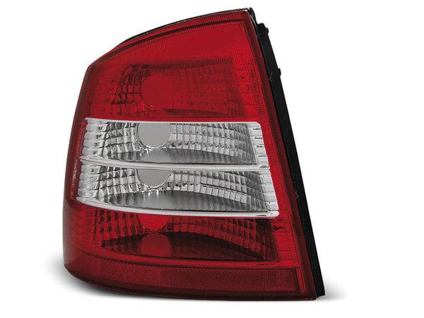 Тунинг стопове за Opel ASTRA G 09.1997-02.2004 3/5 врати, хечбек с червена и бяла основа