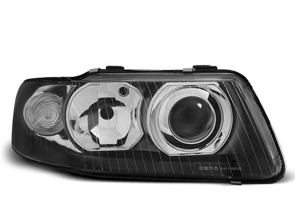 Тунинг фарове черни с лупи за Audi A3 09.2000-05.2003