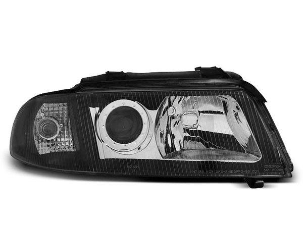 Тунинг фарове черно хром с лупи за Audi A4 B5 01.1999-09.2000 седан/комби