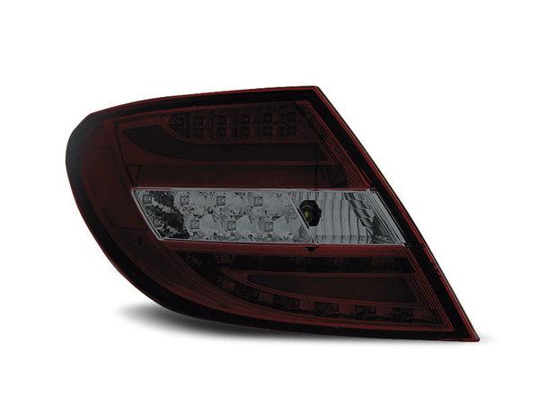 Тунинг LED стопове опушени с чрвено за Mercedes C-класа W204 2007-2010 седан