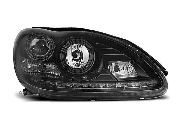 Тунинг фарове черни с LED светлини за MERCEDES W220 S-KLASA 09.1998-05.2005