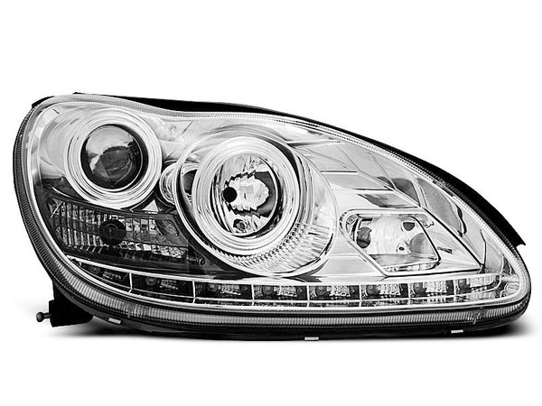 Тунинг фарове хром с LED светлини за MERCEDES W220 S-KLASA 09.1998-05.2005
