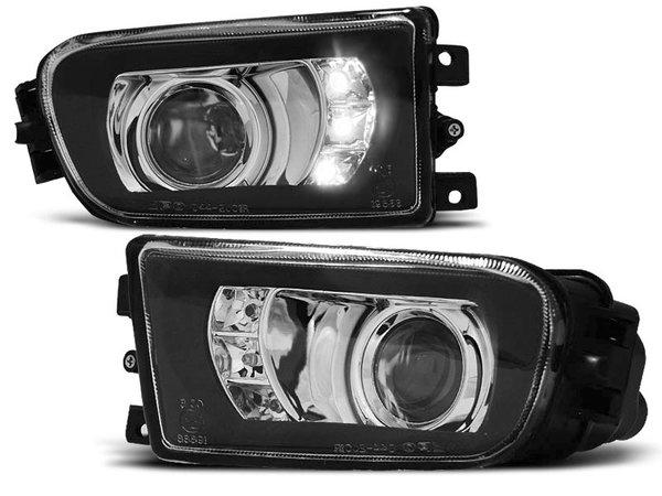 Тунинг халогени с черна рамка с LED светлини за BMW E39 09.95-06.03 Z3 96-02