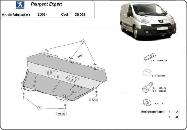 Метална кора под двигател и скоростна кутия PEUGEOT EXPERT от 2006
