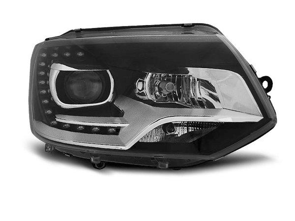 Тунинг фарове черни с LED светлини за VW T5 2010-2015