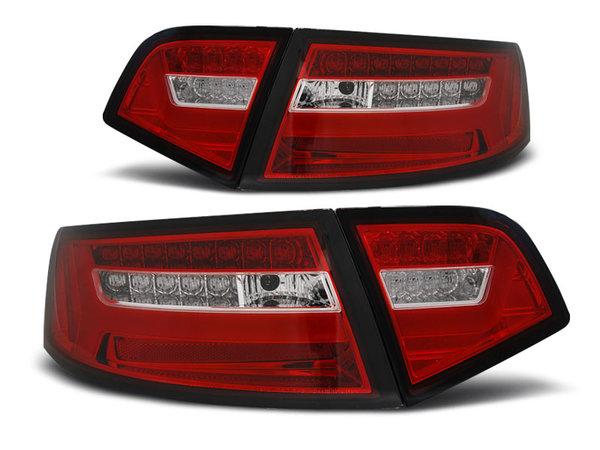 Тунинг LED BAR стопове червено бяло с динамични мигачи за AUDI A6 08-11 SEDAN