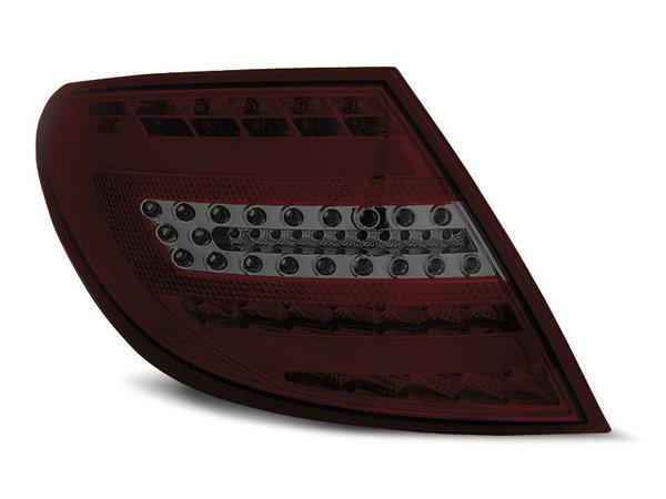 Тунинг LED стопове опушени с червено за Mercedes C-класа W204 2007-2010 седан