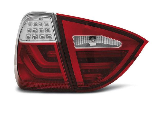 Тунинг LED BAR стопове червено бяло за BMW E91 05-08