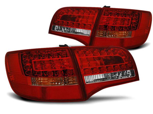 Тунинг LED стопове за Audi A6 C6 2005-2008 комби, версия без фабрични led стопове