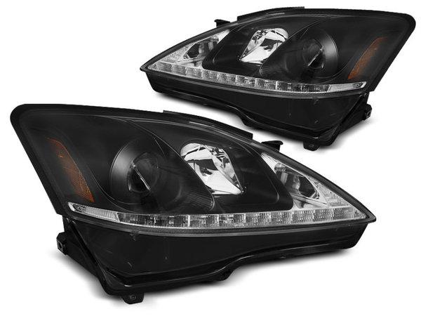 Тунинг фарове черни с LED светлини за LEXUS IS 2006-2013