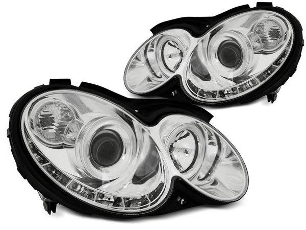 Тунинг фарове хром с LED светлини за MERCEDES W209 CLK 2003-2010