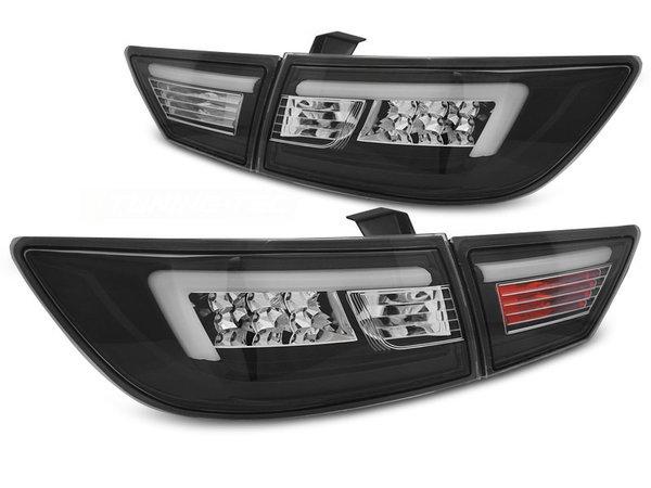 Тунинг LED стопове черни с LED BAR за Renault CLIO IV 2013- хечбек