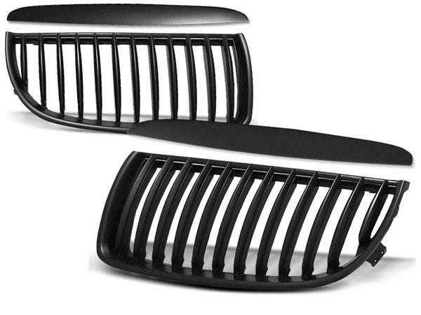 Тунинг решетки бъбреци черни за BMW E90 / E91 03.05-08.08
