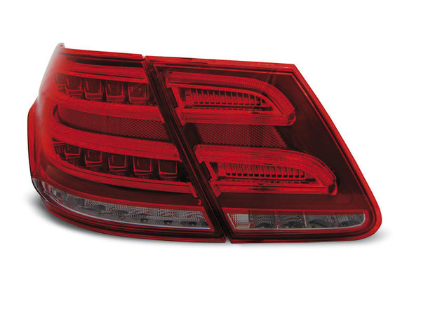 Тунинг LED стопове за Mercedes W212 E-класа 2009-2013 седан, версия с led мигачи във фабричните стопове