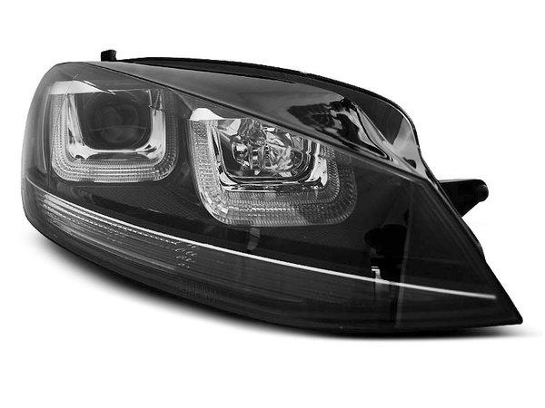 Тунинг фарове черни с LED светлини TRU DRL за VW GOLF 7 11.2012-2017