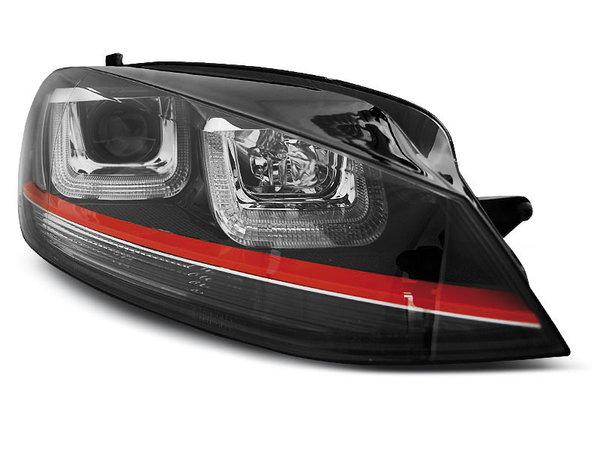 Тунинг фарове черни с LED светлини TRU DRL и GTI LOOK за VW GOLF 7 11.2012-2017