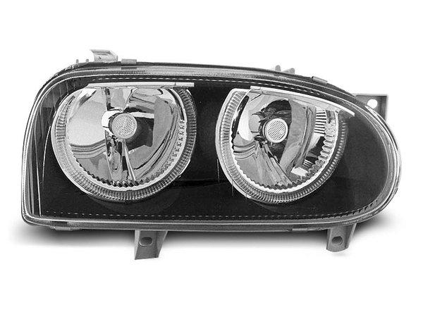 Тунинг фарове кристални с черна основа за VW GOLF 3 09.1991-08.1997