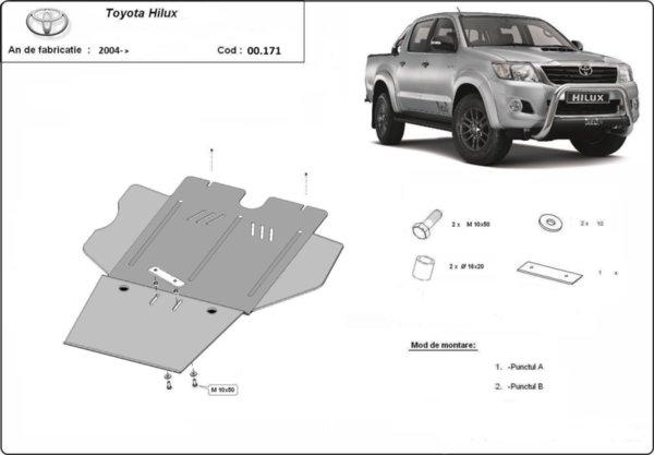 Метална кора под скоростна кутия и диференциал TOYOTA HILUX от 2005 (N70)