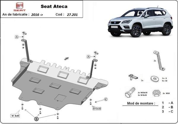 Метална кора под двигател и скоростна кутия SEAT ATECA от 2016