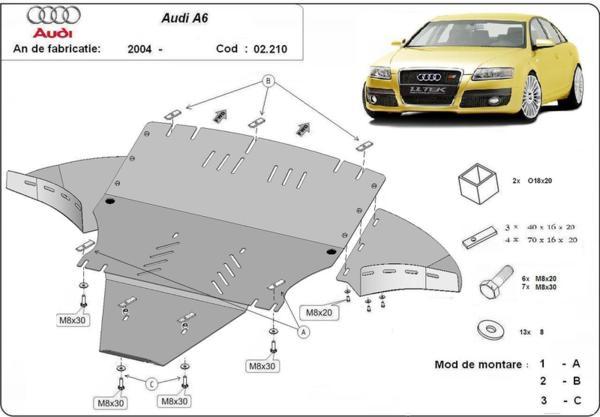 Метална кора под двигател и скоростна кутия AUDI A6 (4F2, C6) от 2004 до 2011