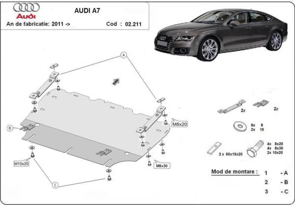 Метална кора под двигател и радиатор AUDI A7 Sportback (4GA, 4GF) от 2010