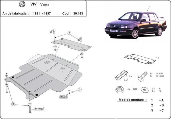 Метална кора под двигател и скоростна кутия VOLKSWAGEN VENTO от 1992 до 1998