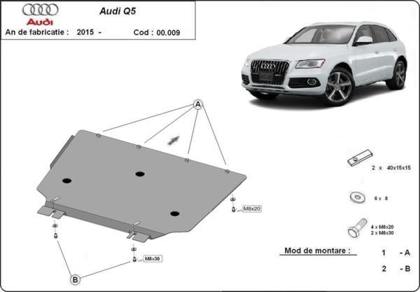 Метална кора под скоростна кутия AUDI Q5 (8R) от 2008 до 2012
