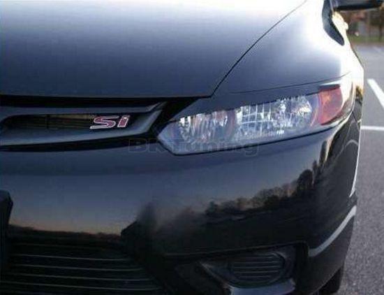 Вежди за фарове за Honda Civic (2006+) 2 врати - черни