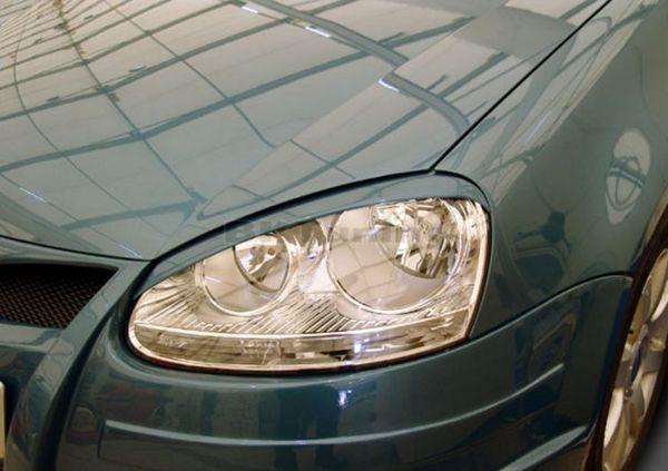 Вежди за фаровете за VW Golf 5 - черни