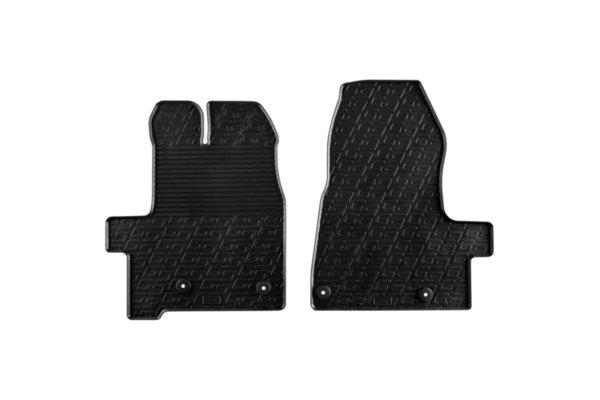 Гумени стелки Gledring за Ford Tourneo Custom след 2017 година 2 части черни