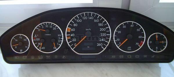 Рингове за табло хромирани Mercedes W140