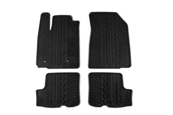 Гумени стелки Gledring за Dacia Sandero 2008-2012 4 части черни