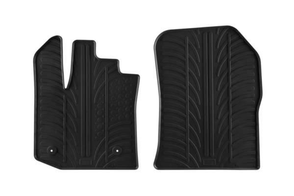 Гумени стелки Gledring за Dacia Dokker Furgon след 2013 година 2 части черни