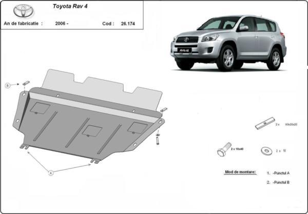 Метална кора под двигател и скоростна кутия - дизел TOYOTA RAV4 от 2006 до 2010