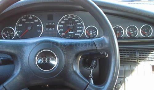 Рингове за табло Audi 100 - хром