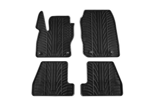 Гумени стелки Gledring за Ford Focus хечбек/комби след 2015 година 4 части черни