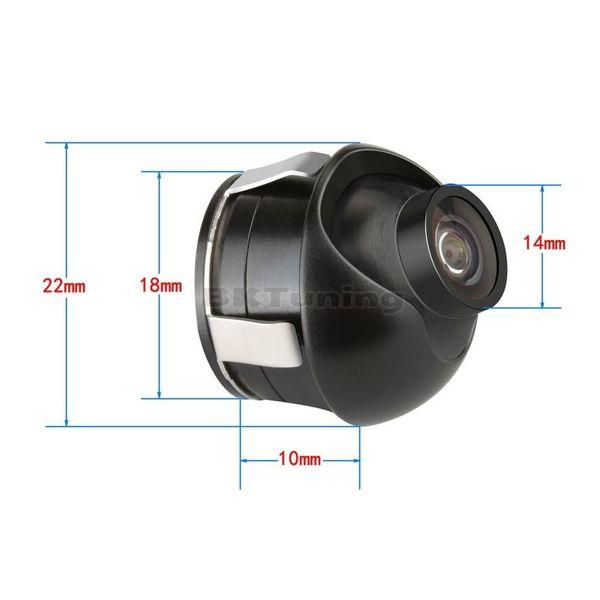 Камера за задно виждане с въртящ се обектив