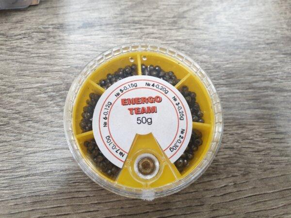 """Кутия олово """"Средна с 6 отделения"""" Жълта"""