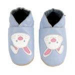 Бебешки пантофи Шарени закачки - Зайче