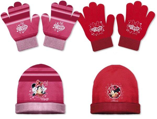 Детска плетена шапка и ръкавици Minnie (42238)