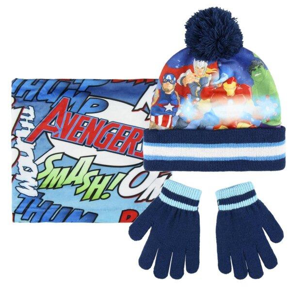 Детски комплект шал, шапка и ръкавици Avengers (3202)