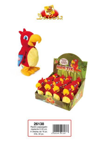 Детска играчка папагал ходещ и повтарящ думи (26138)