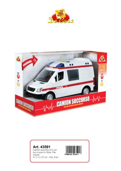 Детска играчка линейка (43591)