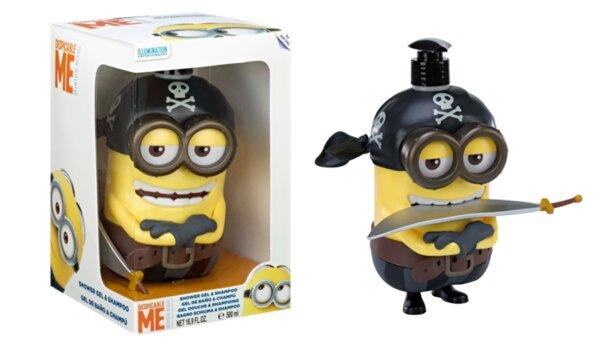 Детски шампоан и душ гел в кутия MINIONS FIGURE 3D PIRATE SHOWER GEL и SHAMPOO 500ml. IN BOX (6626)