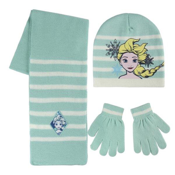 Детско шапка-шал-ръкавици FROZEN (2451)