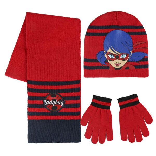Детско шапка-шал-ръкавици LADY BUG (2554)
