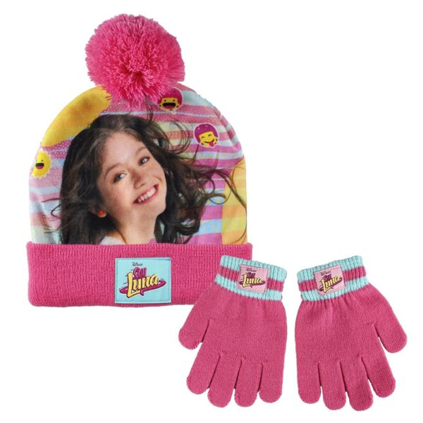 Детска шапка с пискюл и ръкавици SOY LUNA (1834)