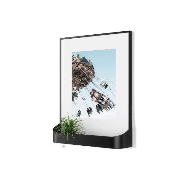 Рамка за снимки UMBRA MATINEE с поставка за аксесоари - цвят черен